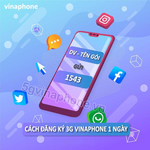 Đăng ký gói cước 3G Vinaphone theo ngày sử dụng suốt 24h