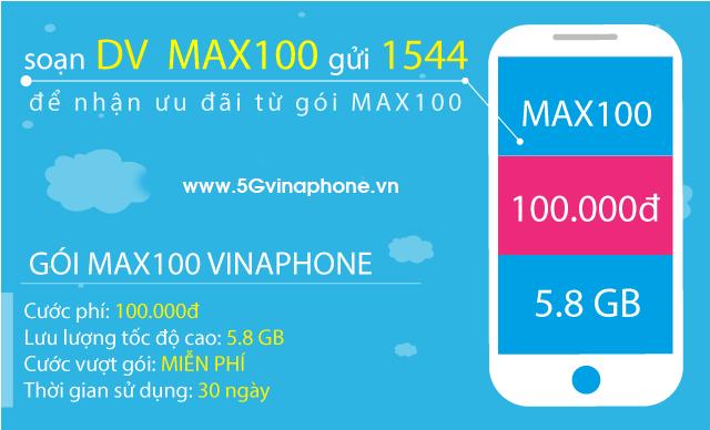 Thông tin chi tiết về gói cước MAX100 của Vinaphone