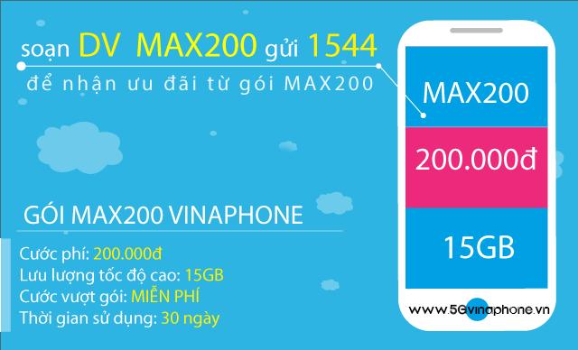 Thông tin chi tiết về gói cước MAX200 Vinaphone