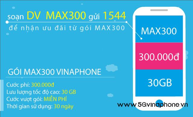 Thông tin chi tiết về gói cước MAX300 của Vinaphone