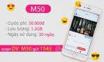 Đăng ký gói cước M50 Vinaphone miễn phí 1.2GB data cả tháng