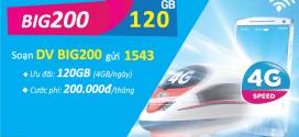 Đăng ký gói cước BIG200 Vinaphone nhận 120GB data chỉ 200.000đ