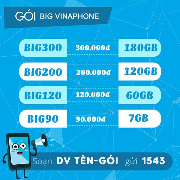 Gói cước BIG70 Vinaphone