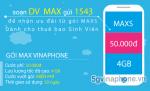 Thông tin chi tiết về gói cước MAXs Vinaphone