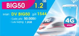 Đăng ký gói cước BIG50 Vinaphone miễn phí 1.2GB data 4G cả tháng