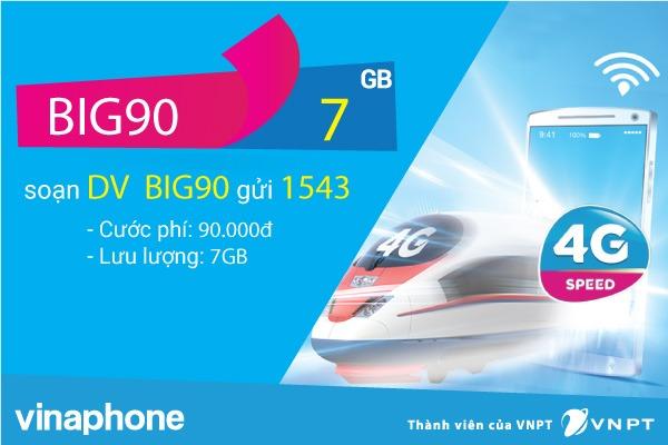 Đăng ký gói cước BIg70 Vinaphone nhận 4.8GB data cả tháng chỉ 70K