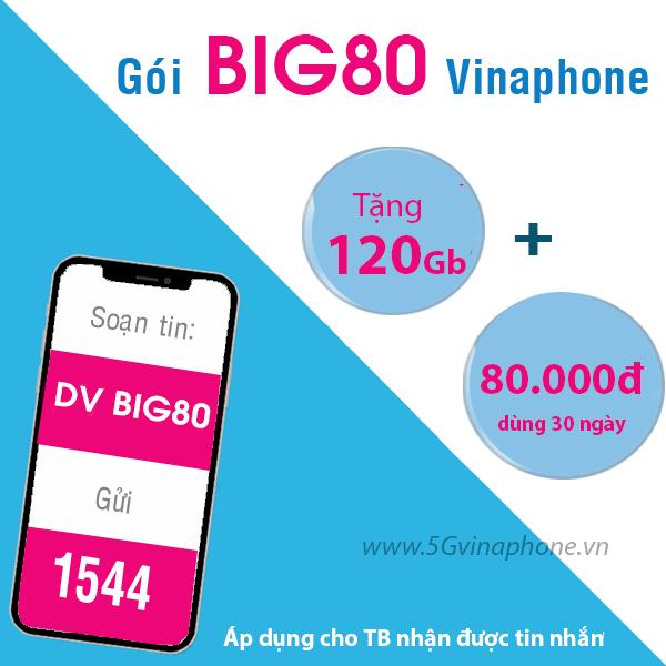 Thông tin chi tiết về gói cước BIG80 của Vinaphone