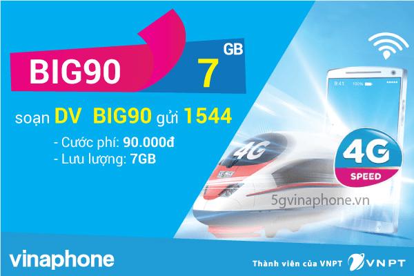 Thông tin chi tiết về gói cước BIG90 của Vinaphone
