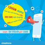 Ưu đãi data + gọi + sms thả ga cả tháng khi đăng ký gói VD149 của Vinaphone
