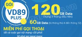 Đăng ký gói cước VD89P Vinaphone ưu đãi 120GB data + gọi Không Giới Hạn