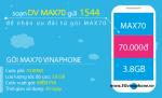 Thông tin chi tiết về gói cước MAX70 của Vinaphone