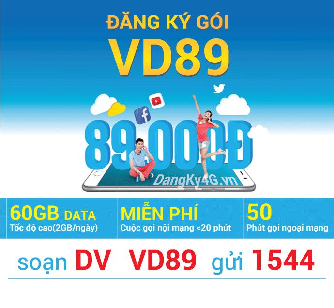 Thông tin chi tiết về gói cước VD89 Vinaphone