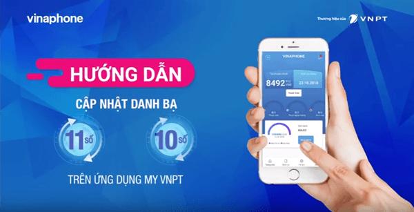 Cách chuyển đổi danh bạ từ sim 11 số sang sim 10 số trên ứng dụng My VNPT