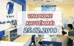Khuyến mãi Vinaphone ngày 25/12/2018 ưu đãi cho TB may mắn