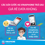 Đăng ký gói cước 4G Vinaphone trả sau nhận data khủng giá rẻ
