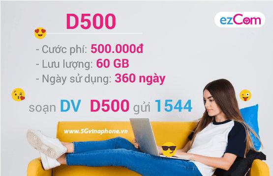 Thông tin chi tiết về gói cước D500 của Vinaphone