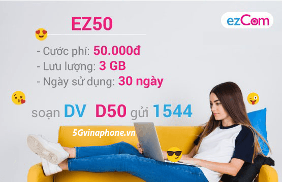 Thông tin chi tiết về gói cước EZ50 của Vinaphone