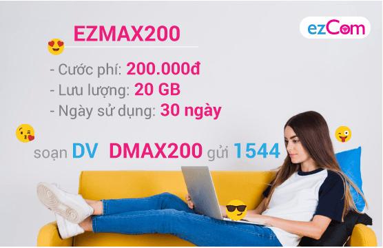 Thông tin chi tiết về gói cước EZMAX200 của Vinaphone