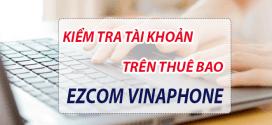 Cách tra cứu kiểm tra tài khoản thuê bao ezCom Vinaphone