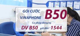 Đăng ký gói cước B50 Vinaphone ưu đãi combo 3 trong 1 trọn gói chỉ 50k