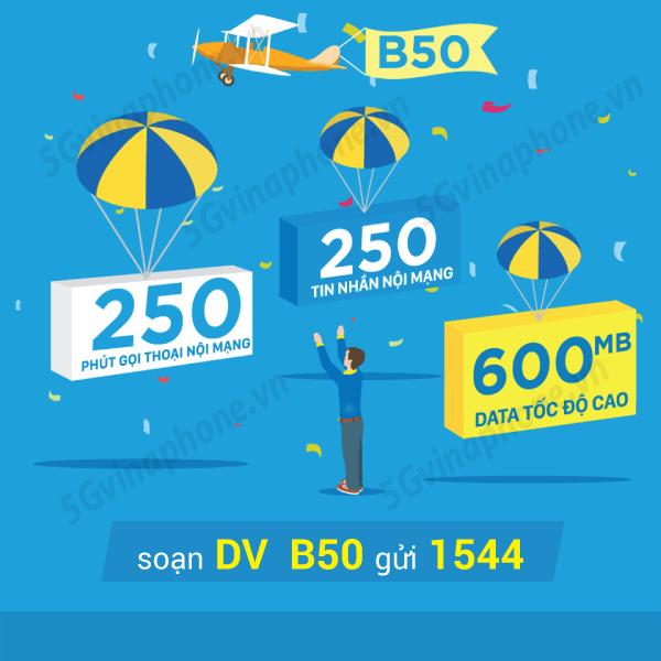 Hướng dẫn đăng ký gói cước B50 của Vinaphone cho thuê bao may mắn