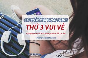 Khuyến mãi Vinaphone thứ 3 vui vẻ tặng 20% giá trị nạp tiền ngày 23/4/2019