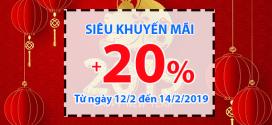 TIN HOT: Vinaphone khuyến mãi 3 ngày liên tục 12/2, 13/2, 14/2 tặng 20% tiền nạp