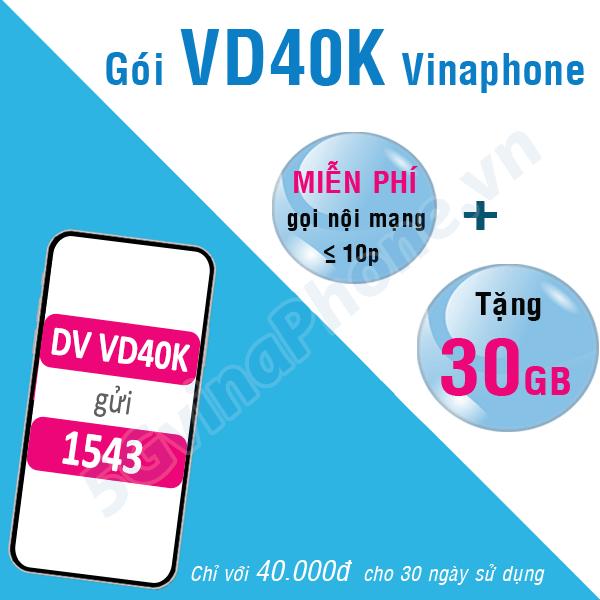 Thông tin chi tiết về gói cước khuyến mãi VD40K của Vinaphone