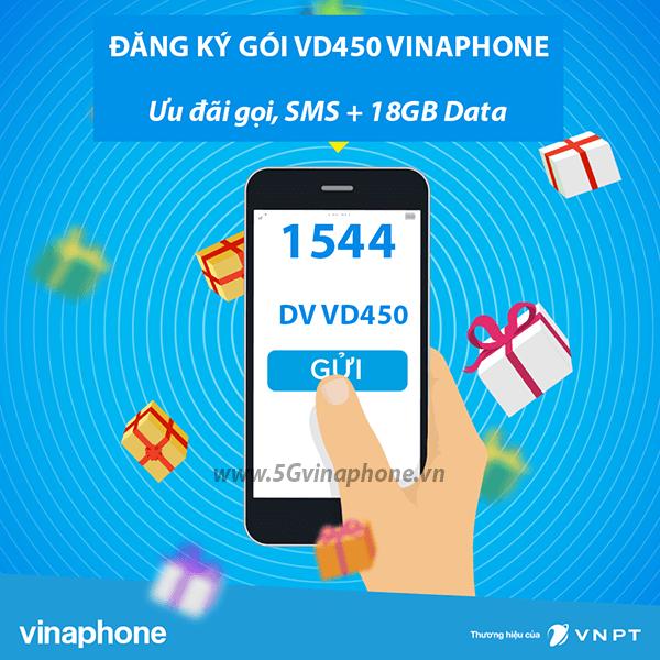 Thông tin chi tiết về gói cước khuyến mãi Vd450 của Vinaphone