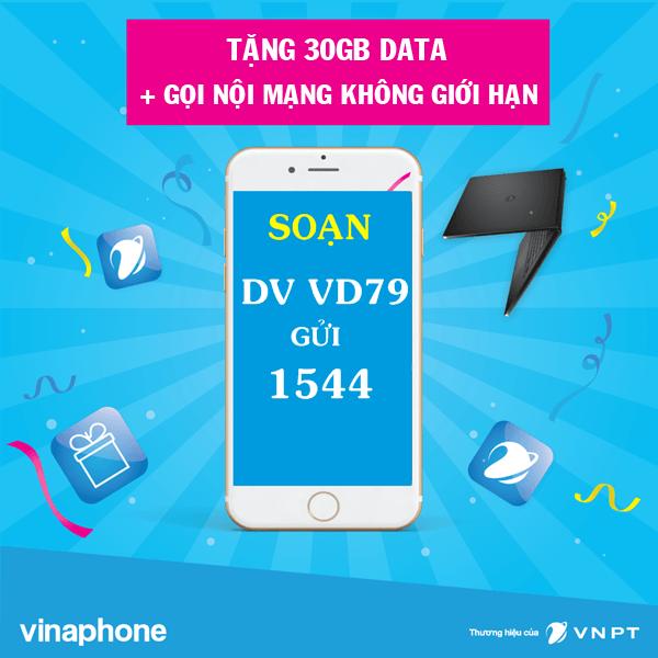 Ưu đãi data tốc độ cao + gọi thả ga khi đăng ký gói VD79 Vinaphone