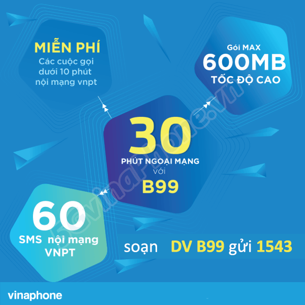 Thông tin chi tiết về gói cước khuyến mãi B99 của Vinaphone