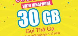 Đăng ký gói cước VD79 Vinaphone MIỄN PHÍ gọi + 30GB data cả tháng