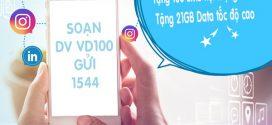 Đăng ký gói cước VD100 Vinaphone gọi MIỄN PHÍ và 21GB data tốc độ cao
