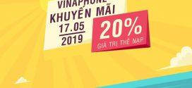 Khuyến mãi Vinaphone ngày 17/5/2019 ưu đãi NGÀY VÀNG toàn quốc