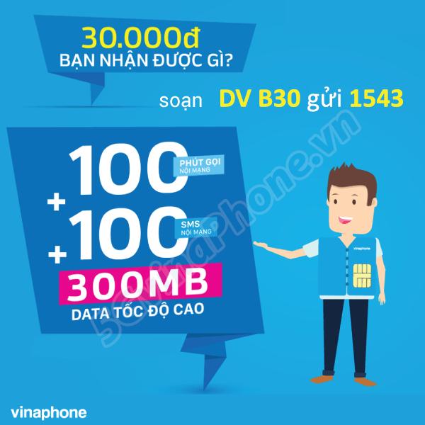 Thông tin chi tiết về cách đăng ký gói cước B30 của Vinaphone