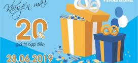 Khuyến mãi Vinaphone ngày 28/6/2019 ưu đãi 20% tiền nạp cục bộ