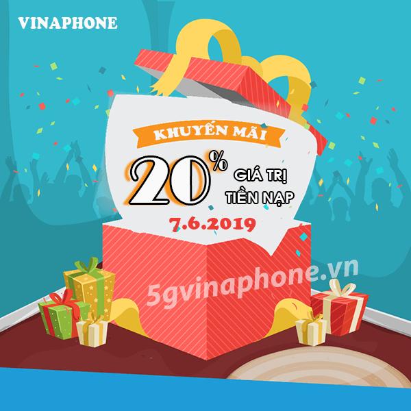 Vinaphone khuyến mãi ngày 7/6/2019 ưu đãi ngày vàng toàn quốc