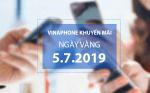 Chương trình Vinaphone khuyến mãi ngày 5/7/2019 cho TB trả trước