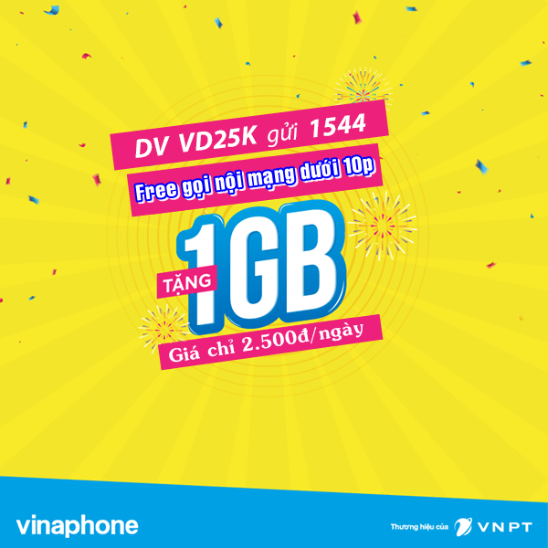 Hướng dẫn cách đăng ký gói cước VD25k Vinaphone