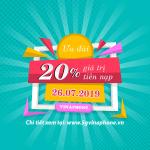 Khuyến mãi Vinaphone ngày 26/7/2019 ưu đãi ngày vàng toàn quốc