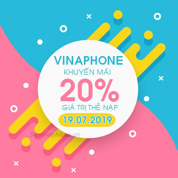 Vinaphone khuyến mãi ngày 19/7/2019 ưu đãi ngày vàng toàn quốc