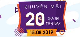 Vinaphone khuyến mãi ngày 15/8/2019 ưu đãi CỰC KHỦNG toàn quốc