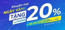 Khuyến mãi Vinaphone ngày 6/9/2019 ưu đãi NGÀY VÀNG toàn quốc