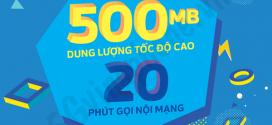 Đăng ký gói VD2 Vinaphone nhận 500MB và 20 phút gọi Free chỉ với 2.000đ