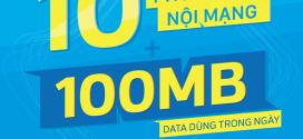 Đăng ký gói cước VD10 Vinaphone chỉ 1.500đ miễn phí gọi + 100MB DATA