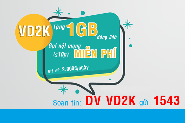 Thông tin chi tiết về gói cước VD2K Vinaphone