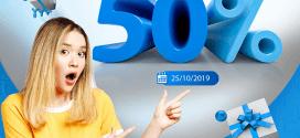 Vinaphone khuyến mãi ngày 25/10/2019 tặng 50% giá trị tiền nạp NGÀY VÀNG