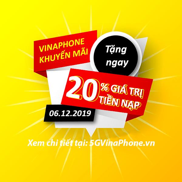 Khuyến mãi Vinaphone ngày 6/12/2019 ưu đãi ngày vàng toàn quốc