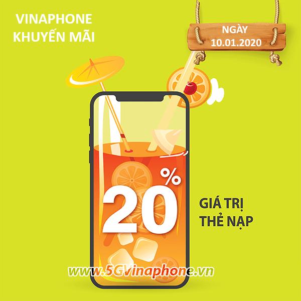 khuyến mãi Vinaphone ngày 10/1/2020 ưu đãi ngày vàng toàn quốc