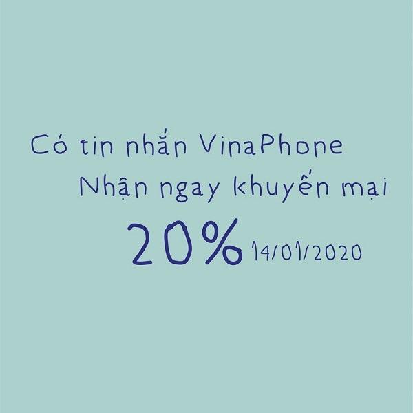 Vinaphone khuyến mãi ngày 14/1/2020 ưu đãi cho TB may mắn